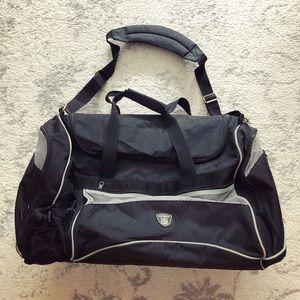 Large black & gray NFL Equipment duffel tote bag